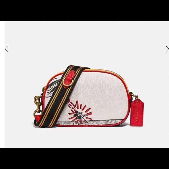 Coach crossbody bag purse Disney Keith haring NWT